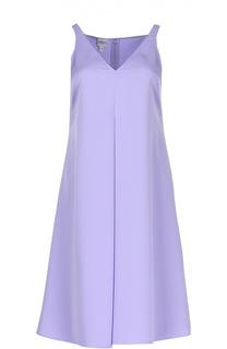 Платье А-силуэта с V-образным вырезом и складкой Armani Collezioni