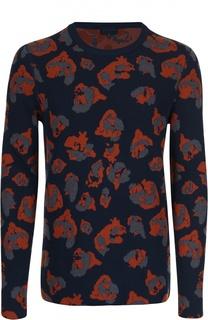 Вязаный пуловер с принтом Lanvin