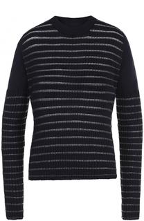 Пуловер с круглым вырезом и металлизированной отделкой Maison Margiela