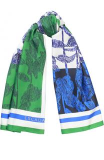 Шелковый платок с принтом Escada