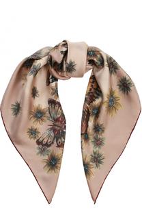 Шелковый шарф с принтом Valentino
