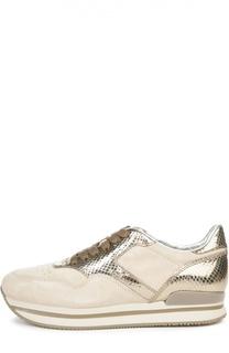 Замшевые кроссовки H222 Hogan