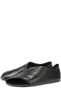 Кожаные сандалии с косым вырезом Marsell