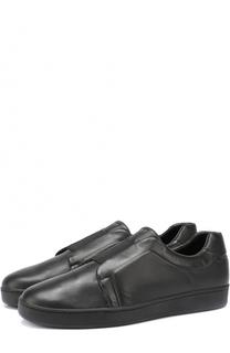 Кожаные слипоны с эластичной лентой DKNY