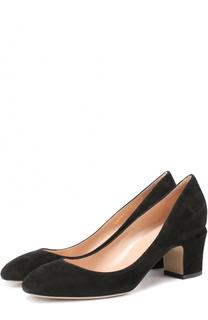Замшевые туфли Tan-Go на низком каблуке Valentino