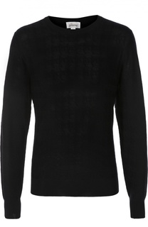 Шерстяной пуловер с круглым вырезом Brioni