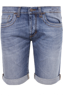 Джинсовые шорты с отворотами Dirk Bikkembergs