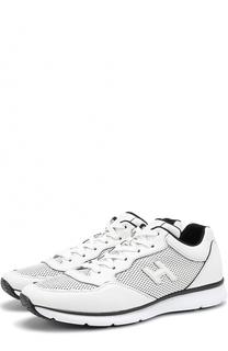 Кожаные кроссовки на шнуровке с перфорацией Hogan