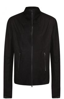 Кожаная куртка на молнии с декоративной отделкой манжет Lost&Found Lost&Found