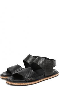 Кожаные сандалии с перфорацией Antonio Maurizi