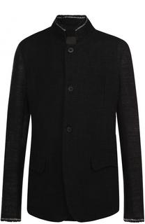Льняной пиджак фактурной вязки с необработанным краем Lost&Found Lost&Found