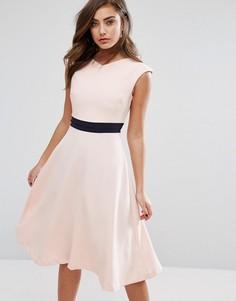 Приталенное платье миди Vesper - Розовый