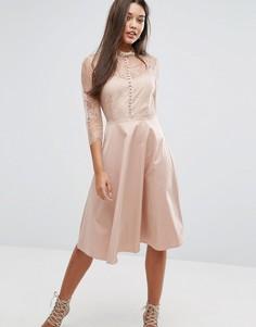 Платье с рукавами 3/4 Y.A.S - Розовый