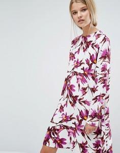Платье с цветочным принтом Samsoe & Samsoe - Мульти