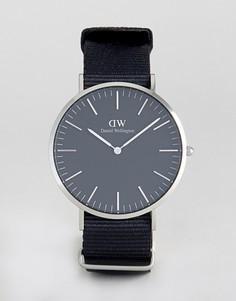 Часы с серебристым циферблатом Daniel Wellington Classic - 40 мм - Черный