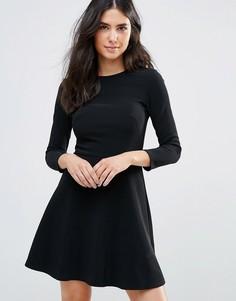 Короткое приталенное платье Oh My Love - Черный