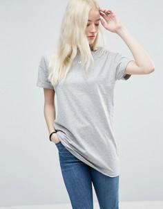 Удлиненная футболка ASOS The Ultimate - Серый