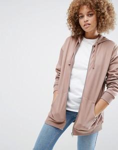 Oversize-худи на молнии ASOS Ultimate - Розовый