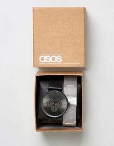 Часы-браслет cо сменным сетчатым ремешком ASOS - Мульти