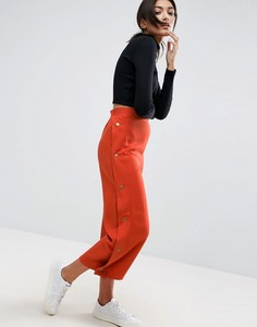 Юбка-брюки с кнопками ASOS - Красный