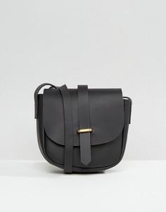 Кожаная сумка-седло ASOS - Черный