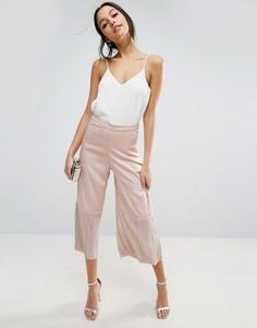 Юбка-брюки с плиссированными вставками ASOS - Розовый