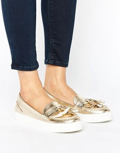 London Rebel Metallic Loafer Trainer - Золотой
