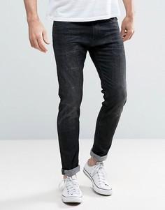 Выбеленные джинсы скинни Replay Jondrill - Черный