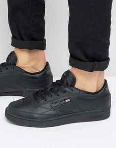 Черные кожаные кроссовки Reebok Club C AR0454 - Черный