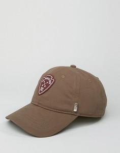 Классическая коричневая бейсболка с логотипом The North Face - Коричневый