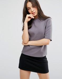 Фактурная футболка Vila - Серый