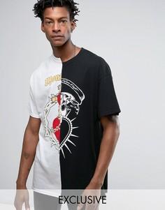 Черная свободная футболка с принтом Reclaimed Vintage Inspired X Romeo & Juliet - Черный