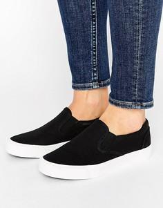 Парусиновые кроссовки New Look - Черный