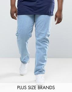 Выбеленные комфортные джинсы Duke PLUS - Синий