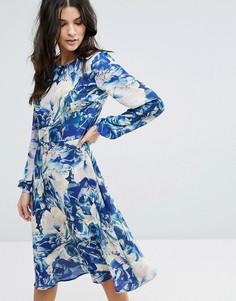 Платье с цветочным принтом Y.A.S Glaze - Мульти