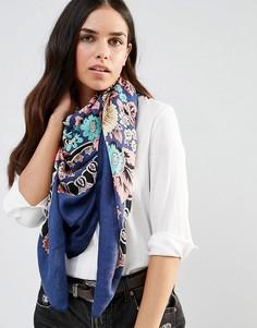 Легкий шарф с цветочным принтом Liquorish - Синий