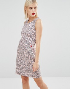 Розовое платье с леопардовым принтом Love Moschino - Розовый