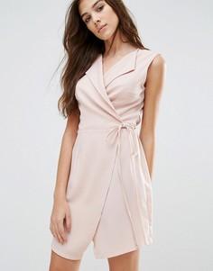 Платье с запахом Wal G - Розовый