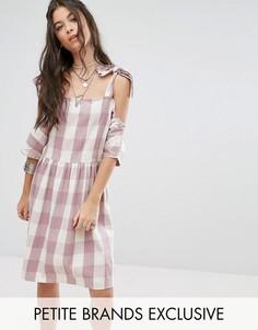 Платье мини в клеточку Glamorous Petite - Мульти