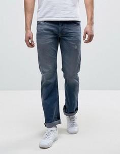 Прямые потертые джинсы Diesel Larkee 084DC - Синий