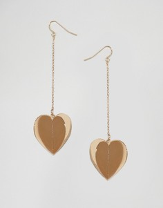 Серьги с 3D сердечками ASOS - Золотой
