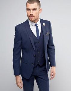 Твидовый пиджак с добавлением шерсти Harry Brown - Темно-синий