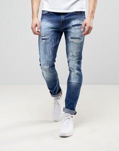 Эластичные рваные джинсы скинни Loyalty and Faith Kaleb - Синий