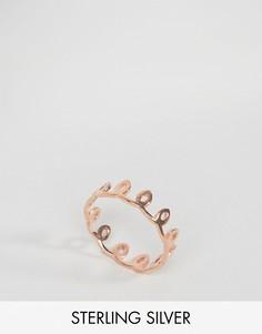 Серебряное кольцо с покрытием розовым золотом ASOS - Медный