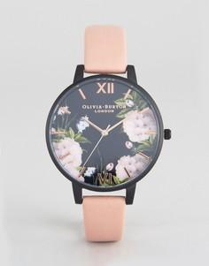 Часы цвета розового золота с пыльно-розовым ремешком Olivia Burton After Dark - Розовый