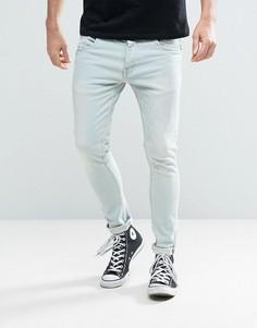Голубые эластичные джинсы скинни Brave Soul - Синий