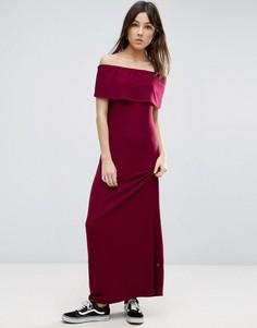 Платье макси с открытыми плечами NYTT - Красный