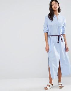 Платье-рубашка макси Maison Scotch - Синий