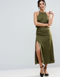 Платье с халтером d.RA Marceline - Зеленый