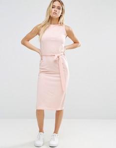 Платье миди с поясом Daisy Street - Розовый